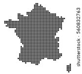 the map of france. silhouette... | Shutterstock .eps vector #560832763