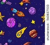 space patches | Shutterstock .eps vector #560837533