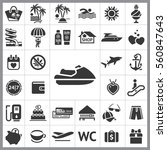 set of travel icons. contains... | Shutterstock .eps vector #560847643