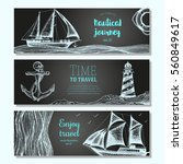 sea set. nautical elements... | Shutterstock .eps vector #560849617
