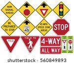 road signs in the united states.... | Shutterstock .eps vector #560849893