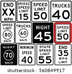 road signs in the united states.... | Shutterstock .eps vector #560849917