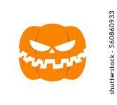 scary pumpkin for halloween.... | Shutterstock .eps vector #560860933