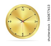 gold watch face over white... | Shutterstock .eps vector #560877613