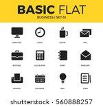 basic set of coffee  calendar... | Shutterstock .eps vector #560888257