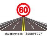 sign restriction speed.... | Shutterstock . vector #560895727