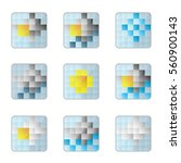 weather 8bit icons on a white...   Shutterstock .eps vector #560900143