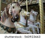 Merry Go Round Horses Close Up