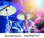 abstract blurred image. actor... | Shutterstock . vector #560938747