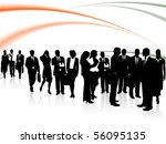 illustration of business people | Shutterstock .eps vector #56095135