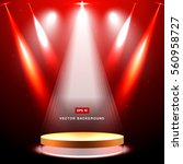studio background with lighting ... | Shutterstock .eps vector #560958727