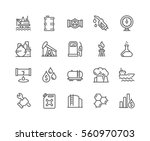 simple set of oil related... | Shutterstock .eps vector #560970703