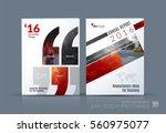 business vector. brochure... | Shutterstock .eps vector #560975077