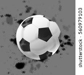 vector illustration of a soccer ... | Shutterstock .eps vector #560979103