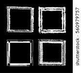 set of white ink grunge frames... | Shutterstock .eps vector #560979757