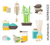set of natural products for ... | Shutterstock .eps vector #560984323