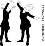 vector illustration of dancing... | Shutterstock .eps vector #560990113
