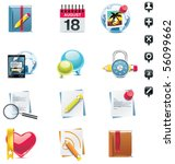 vector social media icon set.... | Shutterstock .eps vector #56099662