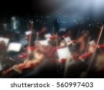 abstract blurred image. actor... | Shutterstock . vector #560997403