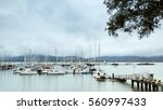 sea marina in the rain | Shutterstock . vector #560997433