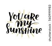 handwritten lettering quote... | Shutterstock .eps vector #560999983