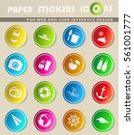 beach vector icons for user... | Shutterstock .eps vector #561001777
