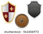 battle shield medieval stock... | Shutterstock .eps vector #561006973