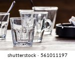 close up picture of a glass ... | Shutterstock . vector #561011197