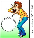 laughing oneself to tears | Shutterstock .eps vector #56101969
