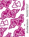 valentine's day pattern with... | Shutterstock .eps vector #561027217