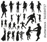 disco vector illustration. set... | Shutterstock .eps vector #561034717