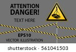 caution   danger  may fall from ... | Shutterstock .eps vector #561041503
