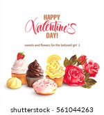 valentine day background with...   Shutterstock .eps vector #561044263