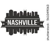 nashville skyline stamp... | Shutterstock .eps vector #561049063