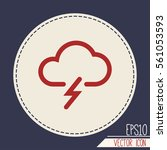 weather icon. | Shutterstock .eps vector #561053593