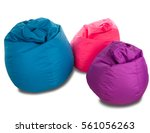 blue  pink and purple beanbag... | Shutterstock . vector #561056263