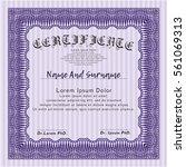 violet certificate of...   Shutterstock .eps vector #561069313