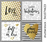 valentines day set cards....   Shutterstock .eps vector #561074623