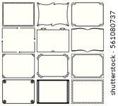 decorative simple frames  set... | Shutterstock .eps vector #561080737