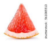 grapefruit piece isolated on... | Shutterstock . vector #561085513