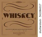 whiskey vintage font...   Shutterstock .eps vector #561086317