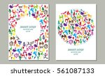 invitation card with funny... | Shutterstock .eps vector #561087133