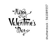 happy valentines day.... | Shutterstock .eps vector #561089557
