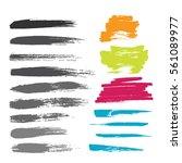 grunge hand drawn brush stroke... | Shutterstock .eps vector #561089977