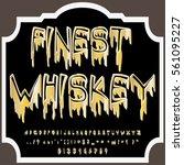 whiskey vintage font... | Shutterstock .eps vector #561095227