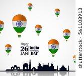india republic day celebration. ... | Shutterstock .eps vector #561108913