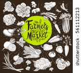 set design template food  spice ... | Shutterstock .eps vector #561112213