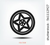 wheel disks icon  vector best... | Shutterstock .eps vector #561112927