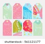 doodled circles marker brush... | Shutterstock .eps vector #561121177