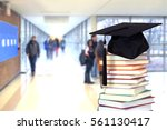 a school hall with book for... | Shutterstock . vector #561130417